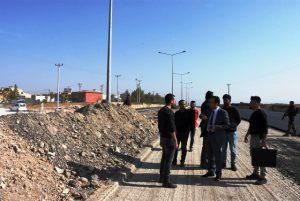 Nusaybin sanayi sitesindeki kavşak çalışması sürüyor