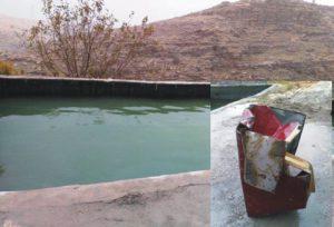 Çaldıkları kasayı havuza atmışlar