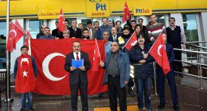 PTT personellerinden operasyona destek