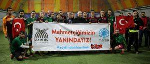 Belediyeden Afrin'e gidecek askerlere moral maçı