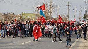 Mardinlilerden Zeytin Dalı Harekatı'na destek yürüyüşü