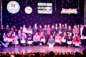 Gençlik Merkezleri Arası Kültür ve Sanat Yarışmaları tamamlandı