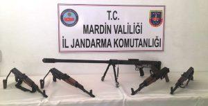 Dargeçit'te keskin nişancı tüfeği bulundu