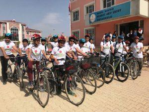 """Nusaybin'de """"Yeşil Pedal"""" bisiklet grubu kuruldu"""