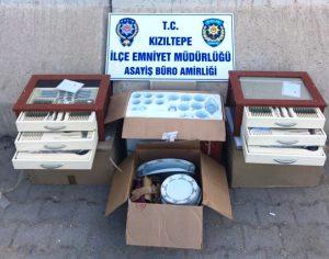 Çalıntı malzemeleri sattığı illeri sürülen kişiye gözaltı