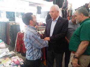 Başkan Eri'den Pazar Esnafına Ziyaret