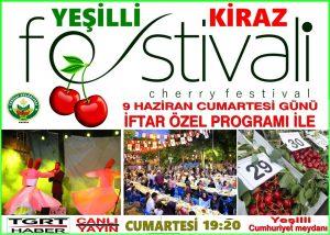 Yeşilli Kiraz Festivali başlıyor