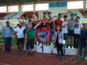 Mardin Atletizm Spor Kulübün'den üç  farklı kategoride takım şampiyonluğunu