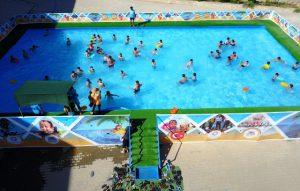 Çocuklar havuzu sevdi