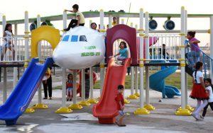 Nusaybin'de Masal ve Şirinler Parkı kuruldu