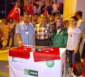 YEŞİLAY'dan  milli iradeye  destek
