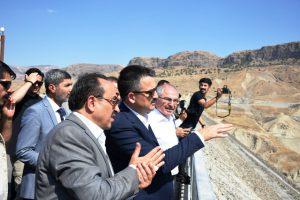 Bakan Pakdemirli'den  Ilısu Barajı'nda inceleme