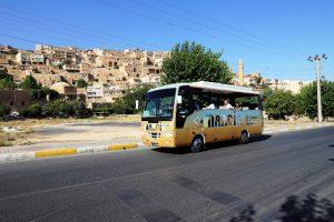 Tur aracı turistlerin gözdesi oldu