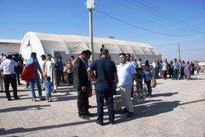 Midyat'taki sığınmacı  kampı boşaltılıyor