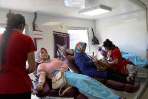 """""""Kadınlar Kan Verir, Hayat  Verir"""" projesine yoğun ilgi"""