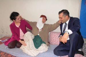 Kaymakam Dinç'ten yaşlılara ziyaret