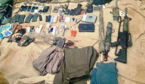 Teröristlere ait malzemeler ele geçirildi