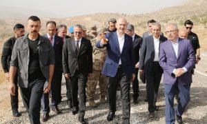 Bakan Soylu, 8 askerin şehit edildiği bölgede incelemelerde bulundu