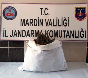 Kızıltepe'de 8 kilogram esrar ele geçirildi