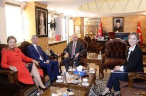 Kanada Ankara Büyükelçisi Cooter'dan Vali Yaman'a ziyaret