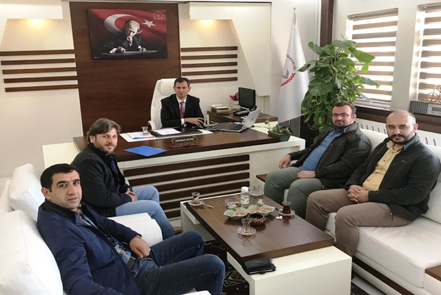 UDEF'ten Midyat Milli Eğitim Müdürü Altay'a ziyaret
