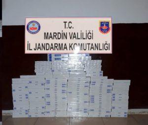 Bin 400 paket kaçak sigara yakalandı