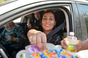 Sürücülere şeker ikramı