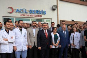 Sağlık Bakanı Koca, Nusaybin'de incelemelerde bulundu