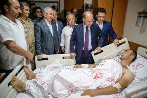 Emniyet Genel Müdürü Aktaş  saldırılarda yaralanan vatandaşları ziyaret etti