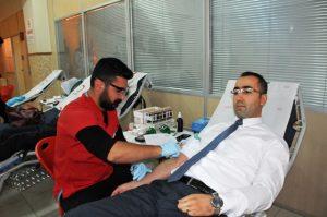 Adliye çalışanlarından  kan bağışı