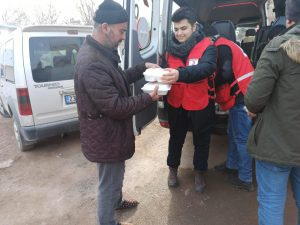 Mardin Genç Kızılay deprem bölgesinde