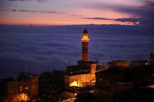 Mardin'de sis ve gün  batımı görsel şöleni