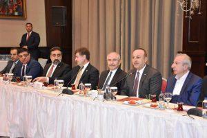 Çavuşoğlu, Mardin´de STK Temsilcileriyle görüştü