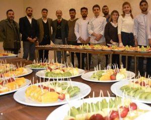 Turizm Fakültesi  öğrencileri ünlü şeflere  taş çıkartıyor