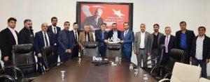 Nusaybin Muhtarlardan Sağlık  Müdürlüğüne Teşekkür Ziyareti