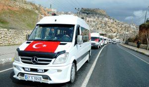 Servis sürücülerinden Mehmetçiğe destek