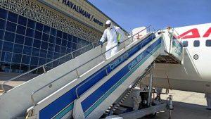 Havaalanı dezenfekte edildi