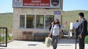 Mardin'de karantina süresi  dolan 39 kişi evlerine uğurlandı