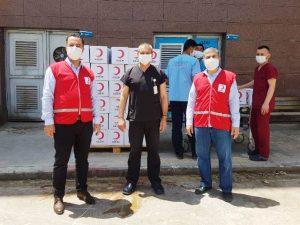 Türk Kızılay'dan sağlık çalışanlarına destek