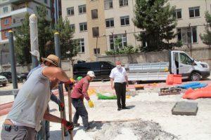 Midyat'ta asfaltlama çalışmaları sürüyor