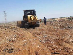 Ömerli'de çöp alanı ıslahı