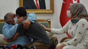 Mardinli aile Jandarmanın ikna çalışması sonucu evladına kavuştu