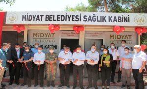 Midyat'ta Sağlık Kabini vatandaşların hizmetine girdi