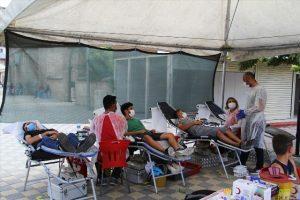 Midyat'ta kan bağışı kampanyası