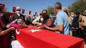 Irak'ın kuzeyinde şehit olan Uzman Çavuş Temelli, son yolculuğuna uğurlandı