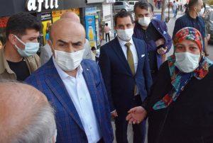 Vali Demirtaş Koranavirüs denetimi yapıp vatandaşların sorunlarını dinledi