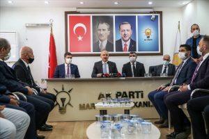 Bakan Karaismailoğlu'ndan Mardin AK Parti İl Başkanlığına ziyaret