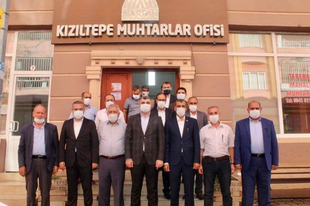 Ak Parti Mardin Teşkilatı Kızıltepe Mahalle Muhtarlarıyla Bir Araya Geldi