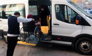 """Belediyeden engelli vatandaşlara, """"ulaşım hizmeti"""""""