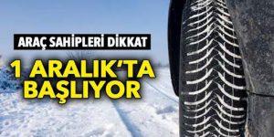 Zorunlu kış lastiği uygulaması 1 Aralık'ta başlıyor!
